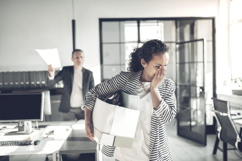 employer firing female employee