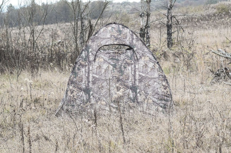 camouflage hunting blind outdoors