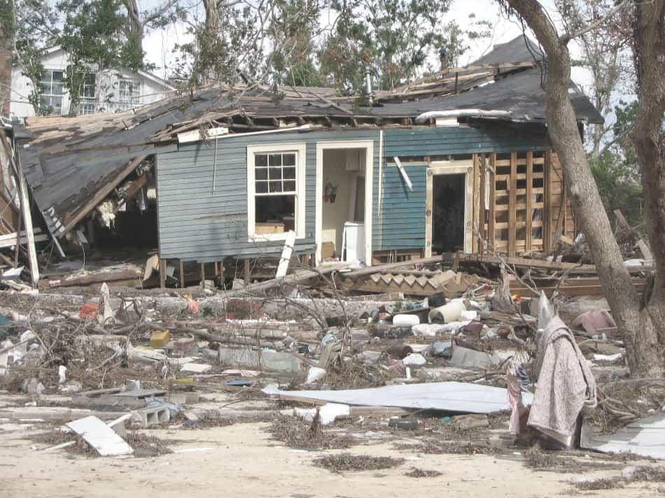 damage to home after huricane katrina