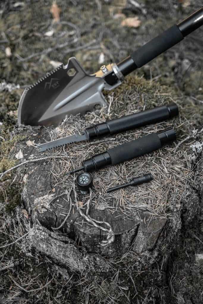survival shovel tools hidden in handle
