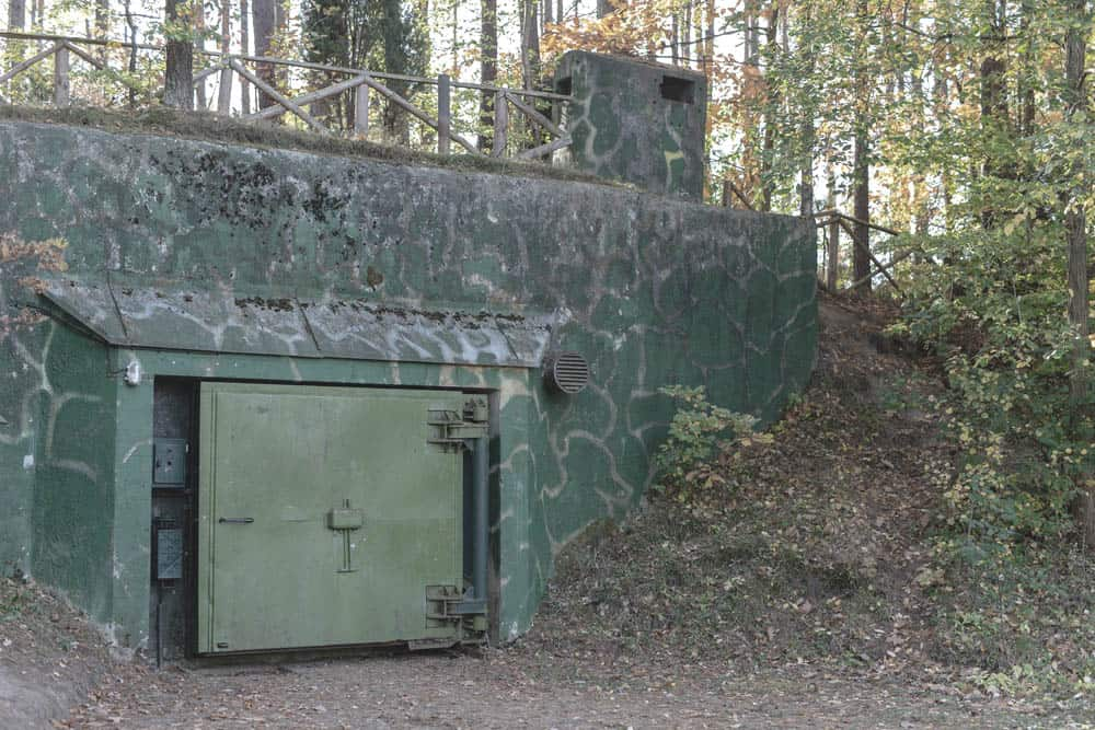 old atomic nuclear bunkers in central europe hidden in forest