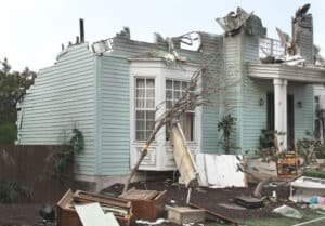 house damaged from natural disaster is no longer livable